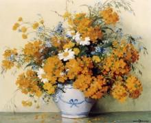 Цветы в сине-белой вазе - Декампс, Морис
