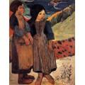 Две девочки, 1889 - Гоген, Поль