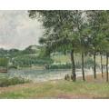 Кур-ла-Рен в Руане, пасмурная погода, 1898 - Писсарро, Камиль