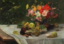 Натюрморт с цветами и фруктами - Забелицкий, Алоис