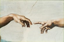 Сотворение Адама - Микеланджело Буонарроти