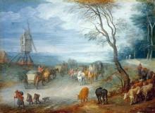 Пейзаж с мельницей - Брейгель, Ян (Старший)