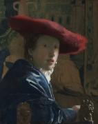 Женщина в красной шляпе - Вермеер, Ян