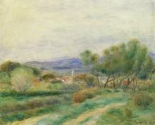 Пейзаж с видом на Ла-Сейн-сюр-Мер - Ренуар, Пьер Огюст