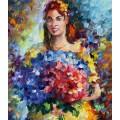 Дама с цветами - Афремов, Леонид (20 век)