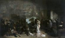 Мастерская художника. Истинная аллегория семи лет моей творческой и нравственной жизни - Курбе, Гюстав