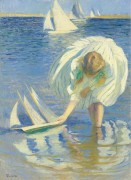 Ребенок с лодкой, 1899 - Тарбелл, Эдмунд Чарльз