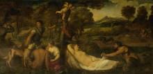 Юпитер и Антиопа - Тициан Вечеллио