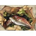 Натюрморт с рыбами - Лемпицка, Тамара
