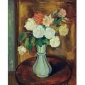 Ваза с розами на столе - Валадон, Сюзанна