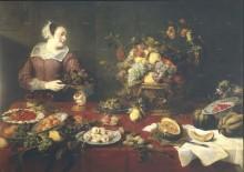 Девушка с фруктами, 1633 - Спандонк, Корнелис ван