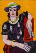 Женщина в красном кресле - Матисс, Анри