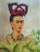Автопортрет с косой - Кало, Фрида