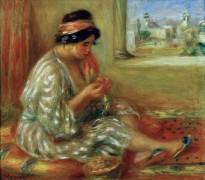 Габриэль в образе алжирской женщины - Ренуар, Пьер Огюст