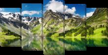 Гора и озеро
