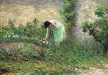 Жизор, женщина, собирающая цветы, 1902 - Люс, Максимильен