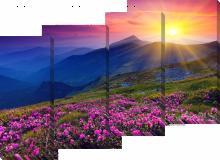 Закат в горах