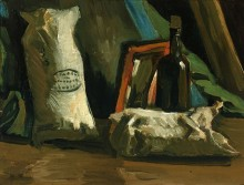 Натюрморт с двумя бурдюками и бутылью (Still Life with Two Sacks  and Bottle), 1884 - Гог, Винсент ван