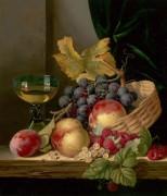 Корзина с персиками и виноградом - Ледел, Эдвард