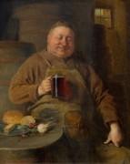 Монастырский бондарь с бокалом пива - Грютцнер, Эдуард фон