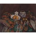 Натюрморт  с сахарницей, имбирем и апельсинами - Сезанн, Поль