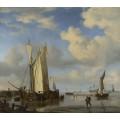 Голландские суда и купающиеся люди - Велде, Виллем ван де (Младший)