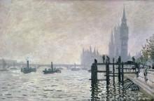 Темза ниже Вестминстера, 1871 - Моне, Клод