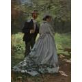 Гуляющие, 1865 - Моне, Клод