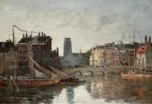 Роттердамский мост, 1876 - Буден, Эжен