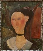 Женщина с бархаткой - Модильяни, Амадео