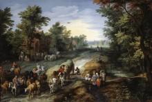 Дорога в окрестностях большого города - Брейгель, Ян (Старший)