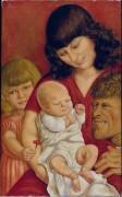 Автопортрет с семьей - Дикс, Отто