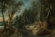 Пастух со стадом в лесу -  Рубенс, Питер Пауль