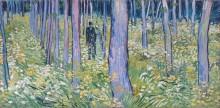 Подлесок с двумя фигурами (Undergrowth with Two Figures), 1890 - Гог, Винсент ван