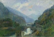 Закат в Сен-Морис, 1903 - Лебург, Альберт