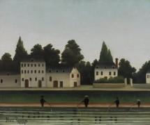 Пейзаж с четырьмя рыбаками - Руссо, Анри