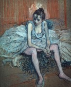 Сидящая танцовщица - Тулуз-Лотрек, Анри де