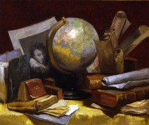 Натюрморт с картой мира - Воллон, Антуан