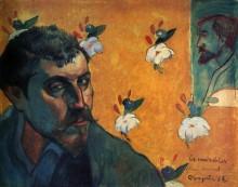 Автопортрет посвященный Винсенту Ван Гогу (Отверженные), 1888 - Гоген, Поль