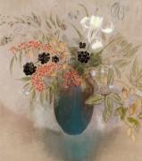 Цветы в вазе - Редон, Одилон