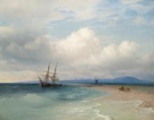 Корабль на крымском побережье - Айвазовский, Иван Константинович