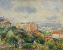 Вид на Париж с Монмартра - Ренуар, Пьер Огюст
