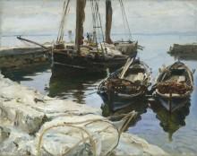 Три лодки у пристани, Сан Вигилио - Сарджент, Джон Сингер