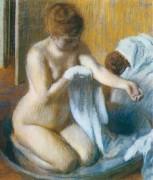 После купания, 1885-1886 - Дега, Эдгар