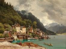 Пейзаж с видом на Халльштатт - Мали, Кристиан Фридрих