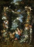 Мадонна с Младенцем и маленьким Иоанном Крестителем - Брейгель, Ян (младший)