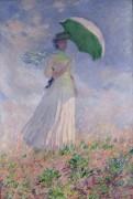 Женщина с зонтиком, повернутая вправо - Моне, Клод