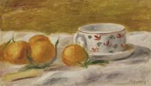 Натюрморт с мандаринами и чашкой - Ренуар, Пьер Огюст