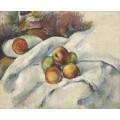 Натюрморт с яблоками на скатерти - Сезанн, Поль