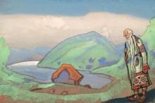 Старейший-мудрейший. Эскиз декорации - Рерих, Николай Константинович